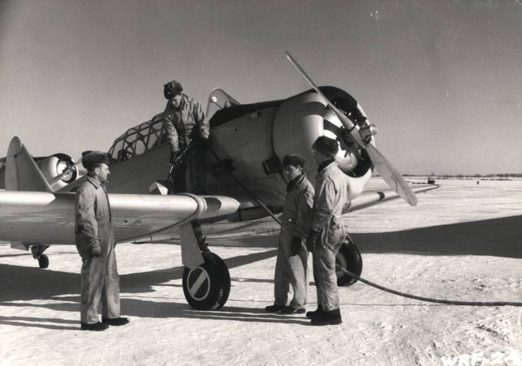 Harvard refueling wartime